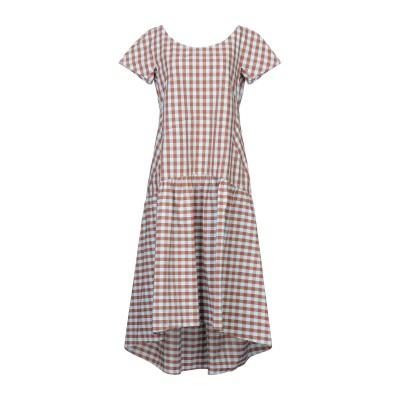 カリバン CALIBAN 7分丈ワンピース・ドレス ブラウン 42 コットン 100% 7分丈ワンピース・ドレス
