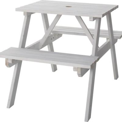 テーブル&ベンチ W75 ホワイト ガーデン・アウトドア ODS-91WH