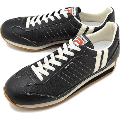 返品送料無料 パトリック PATRICK スニーカー 靴 マラソン-L ブラック 98701