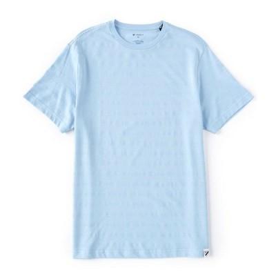クレミュ メンズ Tシャツ トップス Textured Stripe Short-Sleeve Tee Cerulean
