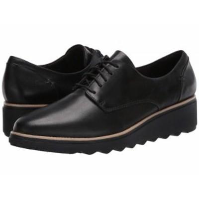 Clarks クラークス レディース 女性用 シューズ 靴 オックスフォード ビジネスシューズ 通勤靴 Sharon Noel Black Leather【送料無料】