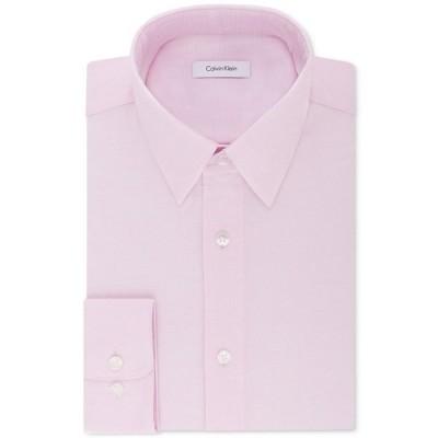 カルバンクライン シャツ トップス メンズ Calvin Klein Men's STEEL Classic/Regular Non-Iron Stretch Performance Dress Shirt Pink
