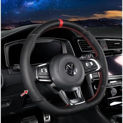 ゴルフ 7.5 TSI GTI GTE 専用設計 ハンドルカバー ステアリングカバー 手作り高品質 快適な通気性 選べる2色