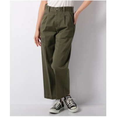 actuelselect 【Lee】TUCK TROUSER(カーキ)【返品不可商品】