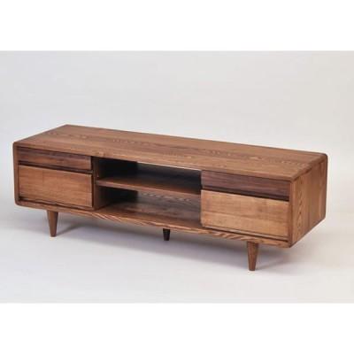 テレビ台 幅125cm ダーク色 テレビボード シンプル ナチュラル 木製 タモ 無垢材 天然木 42インチ 32インチ 52インチ