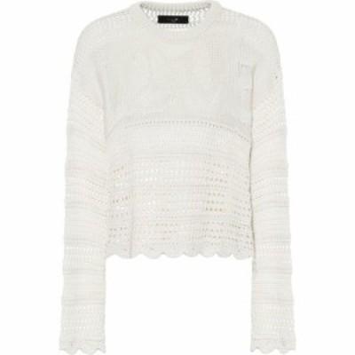 アミリ Amiri レディース ニット・セーター トップス Love silk-blend sweater Ivory