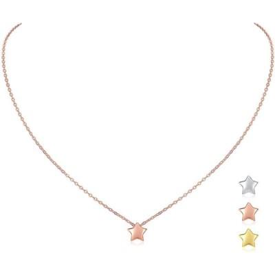 ChicSilver 星 ネックレス レディース ピンクゴールド かわいい 金属アレルギー対応 ペンダント 可愛い 母の日 ギフト アクセサリー