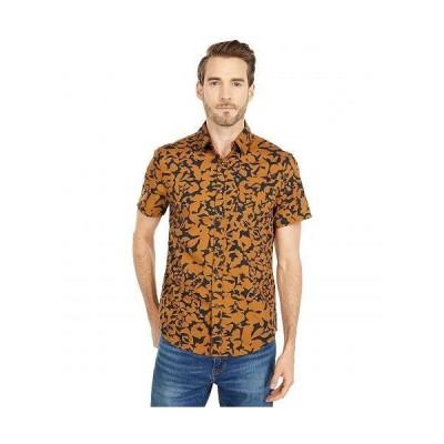 Dockers ドッカーズ メンズ 男性用 ファッション ボタンシャツ Supreme Flex Short Sleeve Button-Down Shirt - Hatten Dark Ginger Print