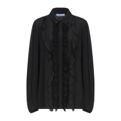 ブルマリン BLUMARINE シャツ ブラック 40 アセテート 70% / シルク 30% / コットン シャツ