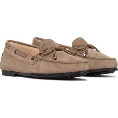 トッズ Tod's レディース ローファー・オックスフォード シューズ・靴 City Heaven suede loafers Tabacco Beige
