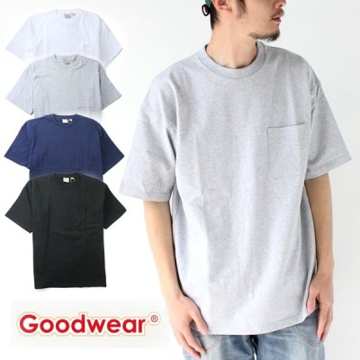 グッドウェア tシャツ 大きいサイズ Goodwear ポケット付き BIG TEE 2W7-3505 メンズ カットソー アウトドア Tシャツ USAコットン / 送料無料
