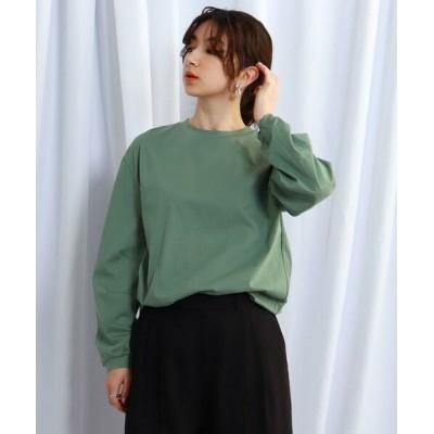 JET NEWYORK/ジェット ニューヨーク 【ウォッシャブル】スリーブタックデザインロングTシャツ カーキ(027) 04(M)