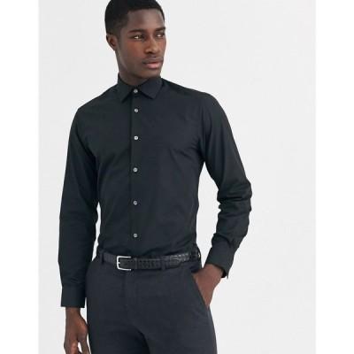 フレンチコネクション French Connection メンズ シャツ トップス slim fit poplin shirt ブラック