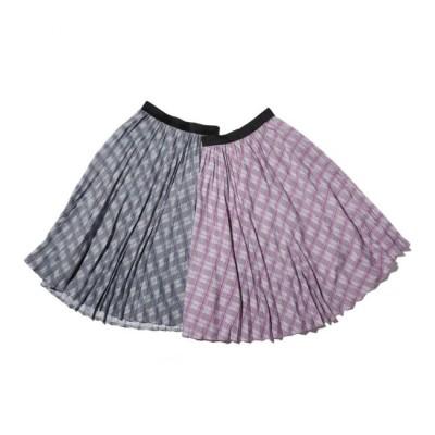 【アトモス ピンク/atmos pink】 atmos pink グレンチェック プリーツスカート PURPLE 18FA-I