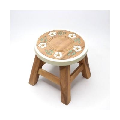 スツール 木製 おしゃれ 子供 椅子 チェア キッズチェア 花台 飾台 ミニチェア 丸椅子 イス かわいい