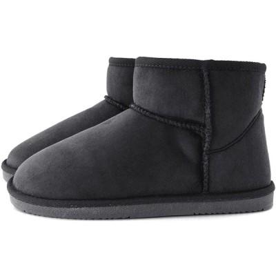 [ズーティー] フェイクムートンアンクルブーツ ブラック Sサイズ
