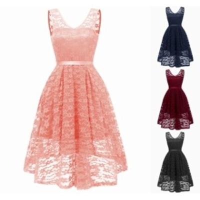 パーティードレス 結婚式 二次会 お呼ばれ ワンピース ノースリーブ お呼ばれドレス ドレス 20代 30代 40代 フィッシュテール 大きいサイ