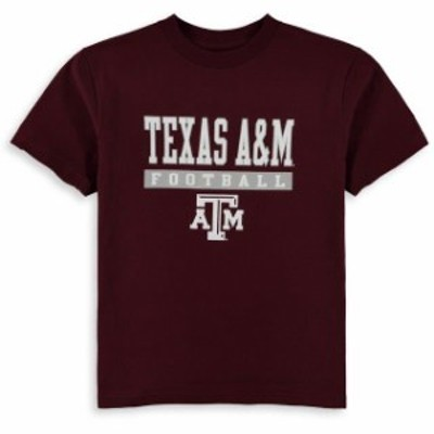 Champion チャンピオン スポーツ用品  Champion Texas A&M Aggies Youth Maroon Football Drop T-Shirt