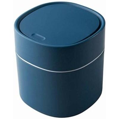 COOLTHICK ゴミ箱 ごみ箱 ダストボックス タッチ タッチ式 軽量 車用 ふた付き 蓋付き インテリア 卓上 ミニ (青)