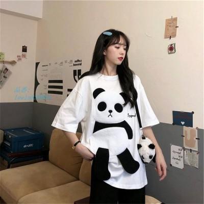 Tシャツ レディース 半袖 Tシャツ トップス 韓国ファッション 上品 ゆったり 大きいサイズ 春夏 カットソー 涼しいカジュアル