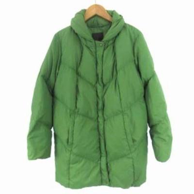 【中古】トータリテ Totalite ダウン コート ショールカラー グリーン 緑 レディース