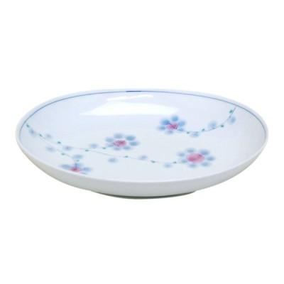 大皿 おしゃれ 和食器 有田焼 早風花 紫 パスタ皿