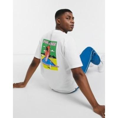 プーマ メンズ シャツ トップス Puma Downtown change t-shirt in white Puma white