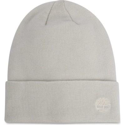 ティンバーランド Timberland レディース ニット ビーニー 帽子 Tonal 3D Embroidery Beanie Hat Cream