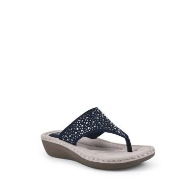 クリフバイホワイトマウンテン レディース サンダル シューズ Calling Thong Comfort Sandal NAVY/FABRIC