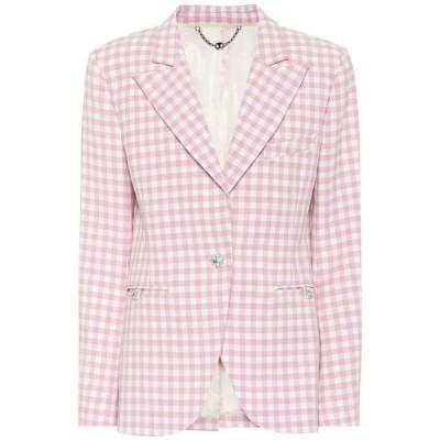 パコラバンヌ Paco Rabanne レディース スーツ・ジャケット アウター Gingham virgin wool blazer Pink Vichy