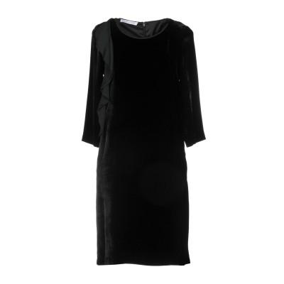 CARACTÈRE ミニワンピース&ドレス ブラック 42 82% レーヨン 18% シルク ミニワンピース&ドレス
