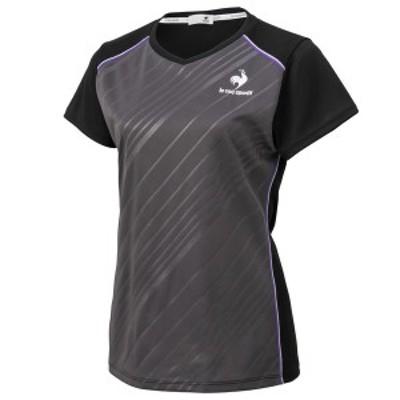 ルコック(le coq sportif) 半袖シャツ QTWSJA90-BLK テニス レディース