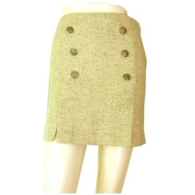 美品/ピンキー&ダイアン Pinky&Dianne おしゃれツイードスカート 小さいサイズ36号(7号S相当) オフホワイト ボトムス レディース