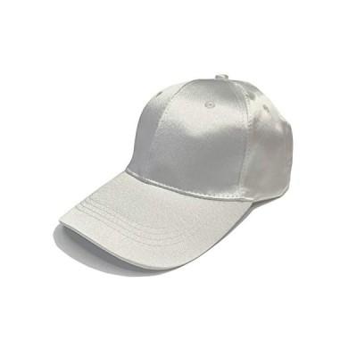 帽子 キャップ 日除け帽子 おしゃれ 深め 光沢生地 CAP 絹キャップ 野球帽 無地 フリーサイズ