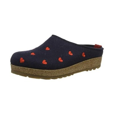 HAFLINGER Women's Textil Slippers US 9.5 / EU 41 Blue【並行輸入品】