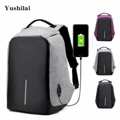 Yushilai バックパック USBポート リュックサック 大容量 rose 耐衝撃PCバッグ通勤 通学 旅行 出張 男女兼用 多