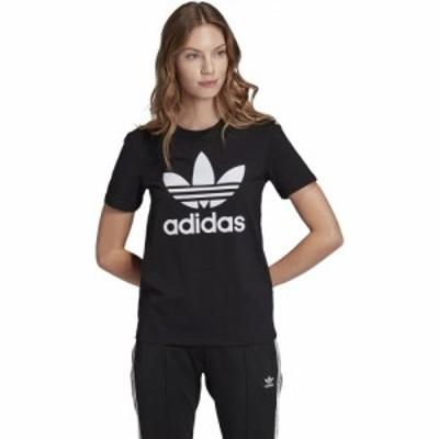 アディダス adidas Originals レディース Tシャツ トップス Trefoil T-Shirt Black/White
