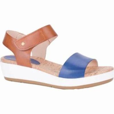 ピコリノス サンダル・ミュール Mykonos Wedge Sandal W1G-0758 Royal Blue Leather