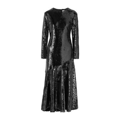 RACIL ロングワンピース&ドレス ブラック 44 PES - ポリエーテルサルフォン 100% / シルク ロングワンピース&ドレス