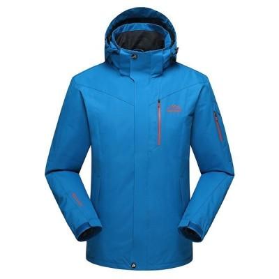 マウンテンパーカー メンズ アウトドアジャケット 厚手 ブルゾン フード付き 防風 保温 暖かい バイクウェア 登山旅行 スキーウェア 大きいサイズ 2020 新作