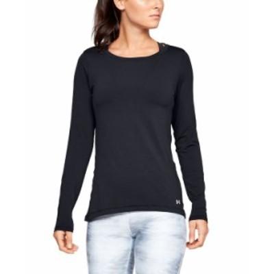 アンダーアーマー レディース シャツ トップス Women's HeatGear Armour Long Sleeve Black