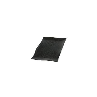 NTL0302 テラテクスチャード レクタングルプラター S ブラック 44520 :_