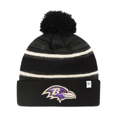 ユニセックス スポーツリーグ フットボール Baltimore Ravens '47 Fairfax Cuffed Knit Hat - Black - OSFA 帽子