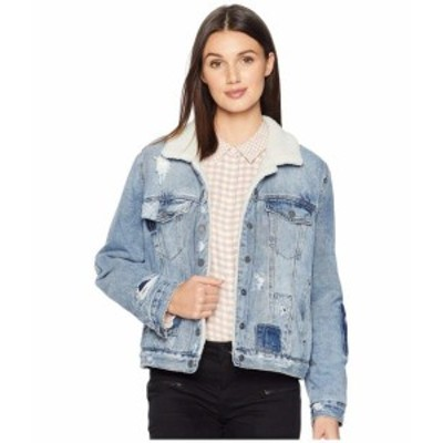 Blank NYC ブランクニューヨーク 服 一般 Denim and Sherpa Trucker Jacket in Ice Road Trucker