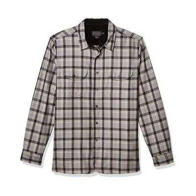 Pendleton メンズ 長袖 ボタンフロント バックリーシャツ US サイズ: X-Large カラー: グレー(並行輸入品)
