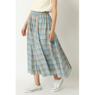 【エルビーシーウィズライフ/Lbc with Life】 ラメチェックギャザースカート