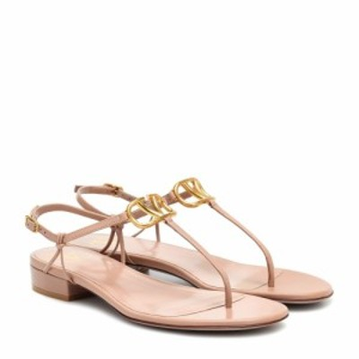 ヴァレンティノ Valentino レディース サンダル・ミュール シューズ・靴 Garavani VLOGO leather sandals Rose Cannelle