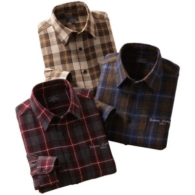ウール混暖かシャツ3色組 - ダンディクラブ
