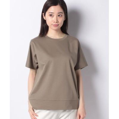 (Leilian/レリアン)【my perfect wardrobe】コットンTシャツ/レディース ブラウン系