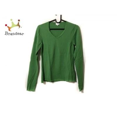 アルマーニコレッツォーニ 長袖セーター サイズ40 M レディース - イエローグリーン Vネック 新着 20201226